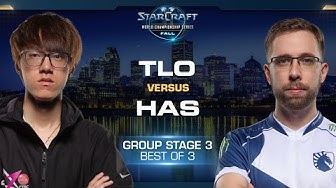 Has vs TLO PvZ - Group Stage #3 - WCS Fall 2019