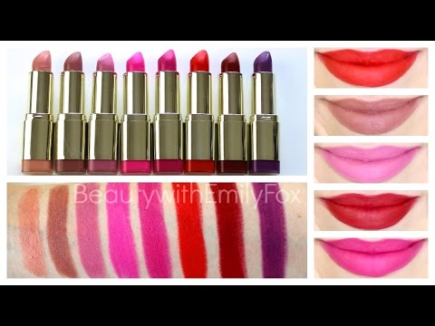 Milani Color Statement Moisture Matte Lipstick + Lip Swatches