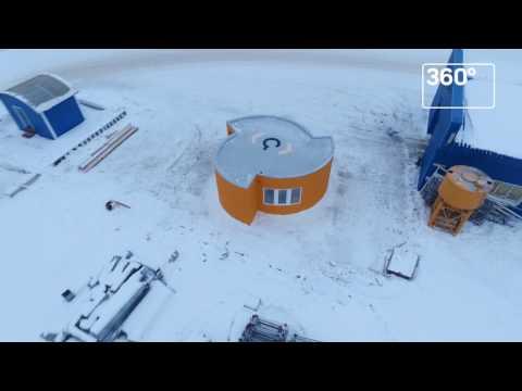 Жилой дом распечатали на 3D-принтере в Ступине: видео с коптера