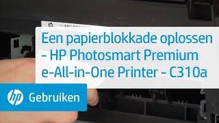 Een papierblokkade oplossen - HP Photosmart Premium e-All-in-One Printer - C310a