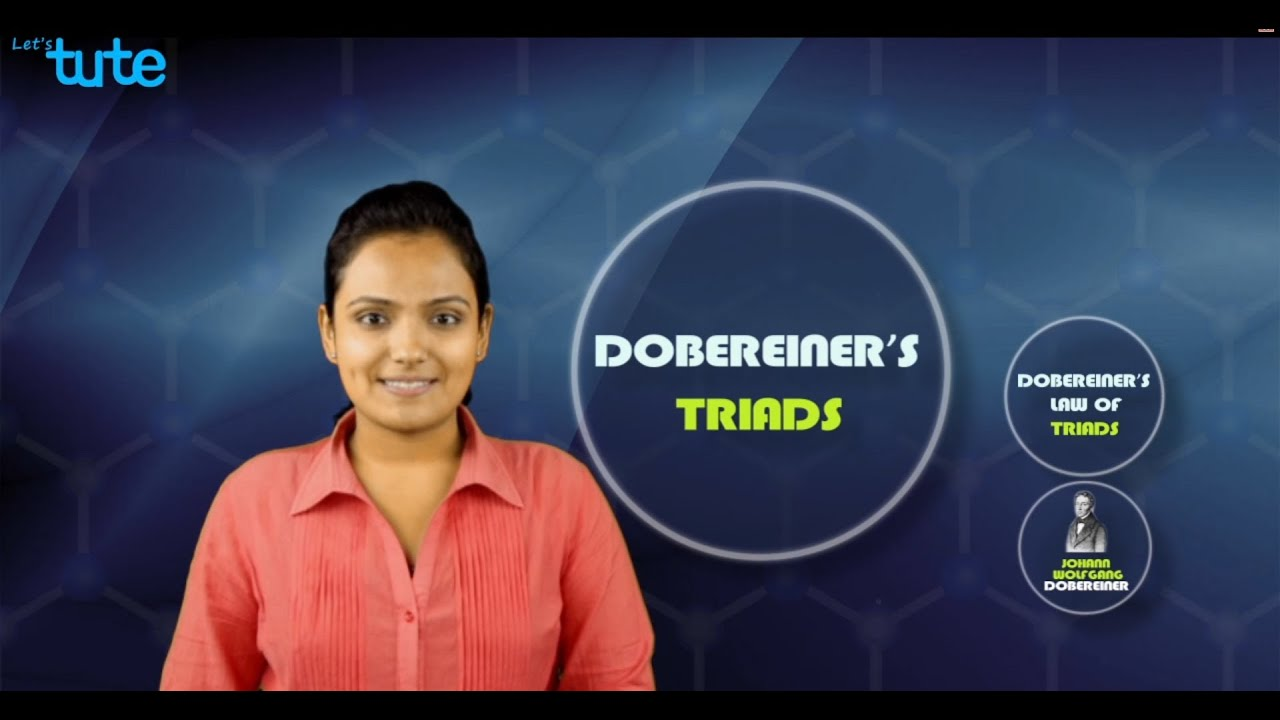 Dobereiners Triads Explanation Video Grade 10 Science Letstute