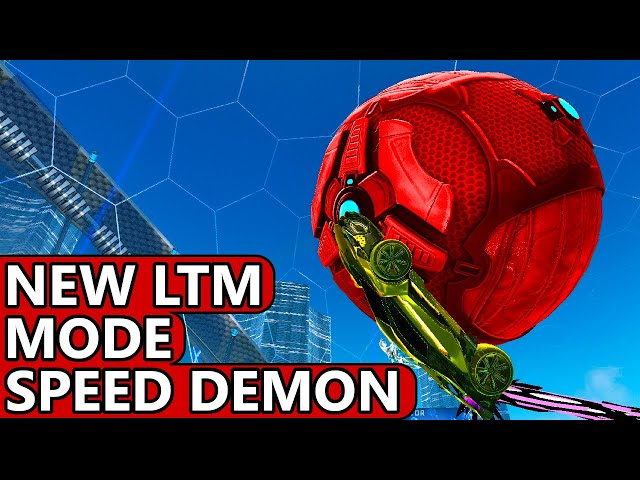 Trying Out Rocket League's New Speed Demon Limited Time Mode (LTM) For The First Time