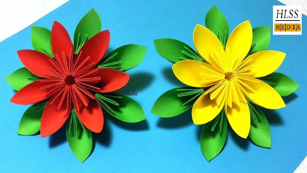How To Make An Easy Origami Paper Flower Paper Flower Folding Step