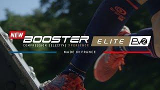 M+ BV Sport Booster Elite Evo 2 Gambaletti Compressivi Running Rosso