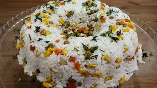 En Güzel Pirinç Pilavı Tarifi | Sebzeli Pilav | Rice Recipe |