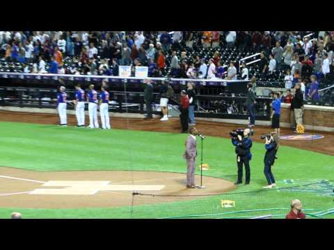 Leslie Odom Jr. National Anthem NY Yankees vs Mets Citifield 9-20-15