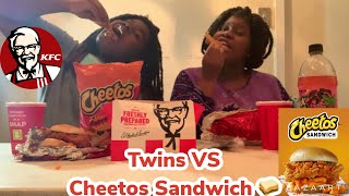 Twins vs KFC Cheetos Sandwhich & Cinnabon Biscuits