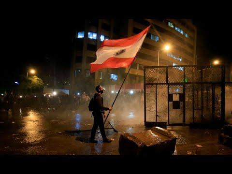 لبنان: المئات من المتظاهرين في شوارع بيروت مع مرور مئة يوم على بدء الاحتجاجات  - 20:59-2020 / 1 / 25