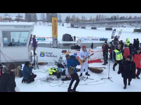 Eskimovähemmistö winterswim i Skellefteå 13.2.2016