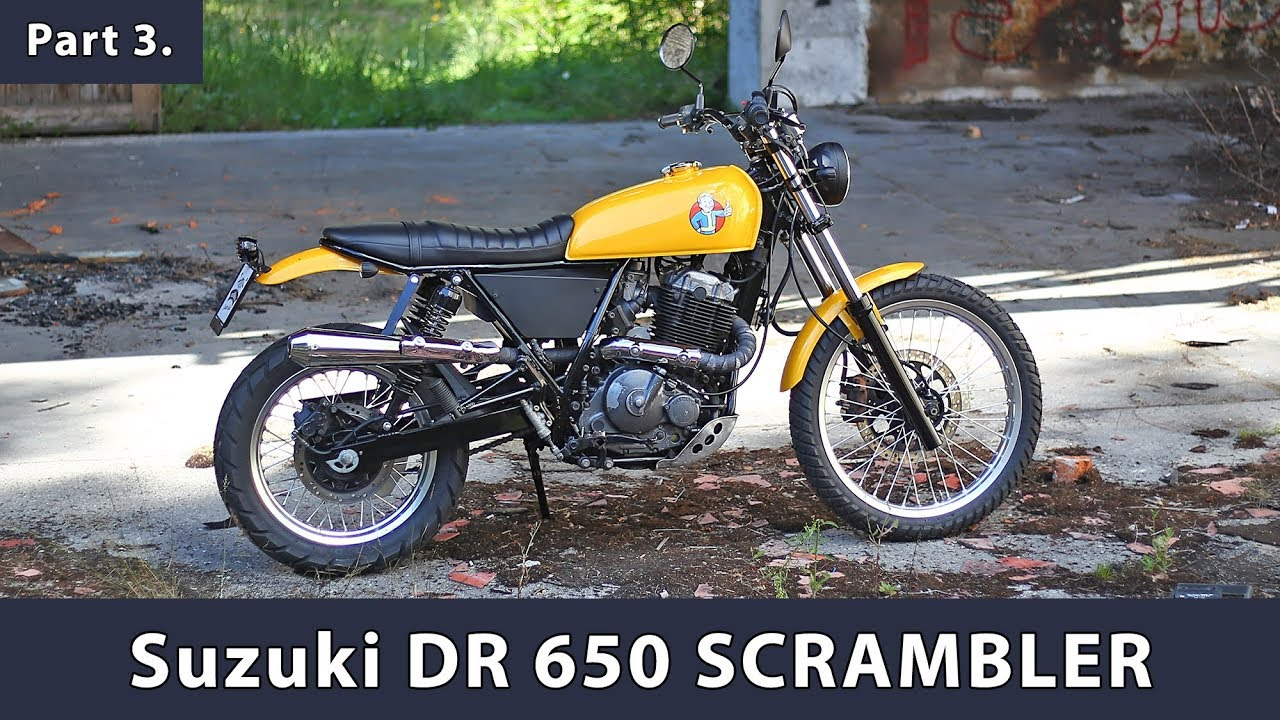 scrambler fallout build story part 3 suzuki dr 650 rse youtube. Black Bedroom Furniture Sets. Home Design Ideas
