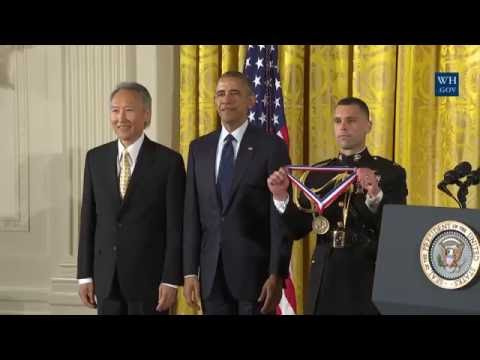 OBAMA Presents National Medal to Chenming Hu