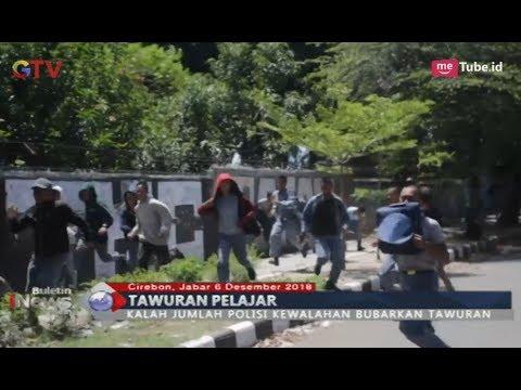 Pelajar Antara Dua SMK di Cirebon Saling Serang, Polisi Kewalahan Bubarkan Tawuran - BIM 06/12