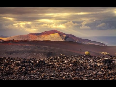 Mount Timanfaya Volcano in Lanzarote, Canary Islands, Spain Full HD Visit