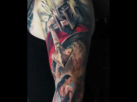 300 Spartan tattoo sleeve - YouTube