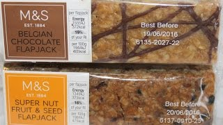 Marks & Spencer Flapjack: Super Nut Fruit & Seed and Belgian Chocolate Review