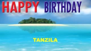 Tanzila  Card Tarjeta - Happy Birthday