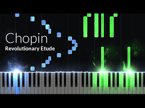 Etude Opus 10 No. 12 (Revolutionary) - Frederic Chopin [Piano Tutorial] (Synthesia)