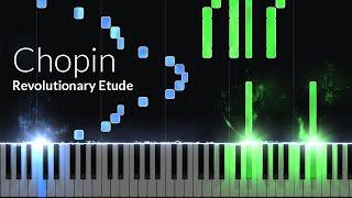 Etude Opus 10 No. 12 (Revolutionary) - Frederic Chopin [Piano Tutorial] (Synthesia)