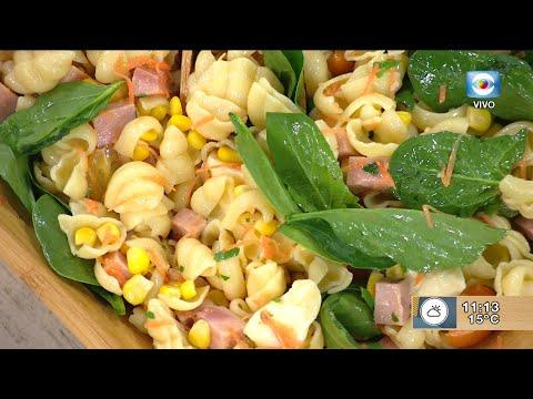 Ensalada de pasta y espinaca