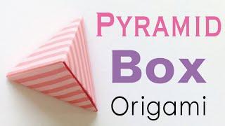 Pyramid Shape Origami Paper Gift Box - Origami Kawaii〔#098〕