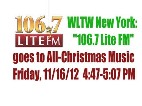 WLTW 1067 Lite FM Brings Back the Holiday Lite 111612