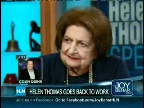 Helen Thomas on Joy Behar