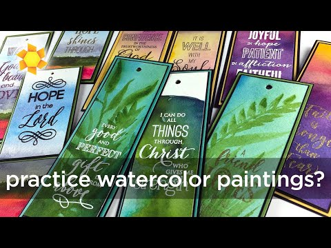 what-to-do-with-practice-watercolor-paintings?