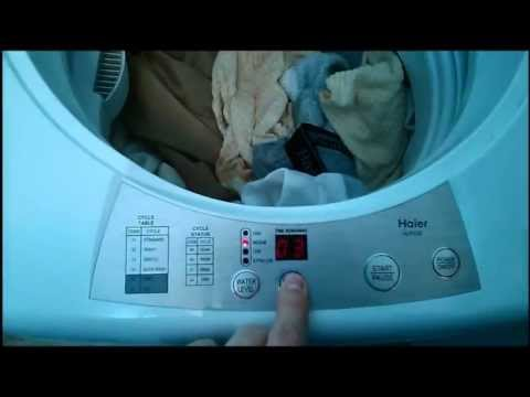 Haier HLP23E Portable Washing Machine OverviewReview  YouTube