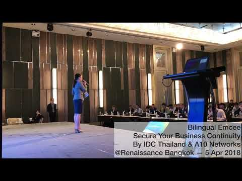 Bilingual Emcee | Secure Your Business Continuity by IDC Thailand