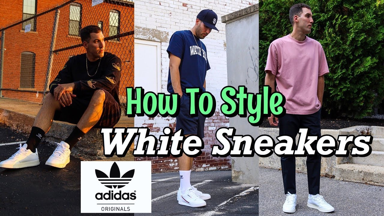 HOW TO STYLE WHITE SNEAKERS - SUMMER LOOKBOOK