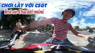 Thanh niên chơi lầy với CSGT cùng Ducati Mini trẻ trâu 🤣 360 VR Video