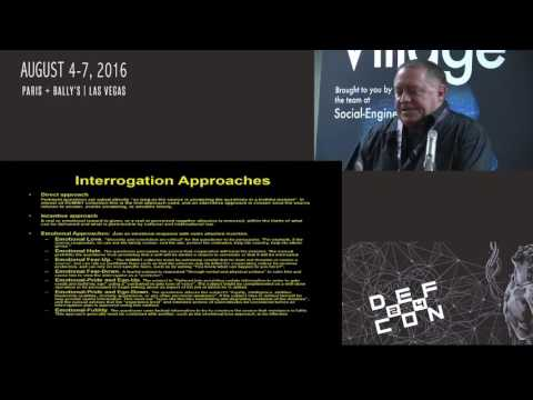 DEF CON 24 SE Village - Robert Anderson - US Interrogation Techniques and SE