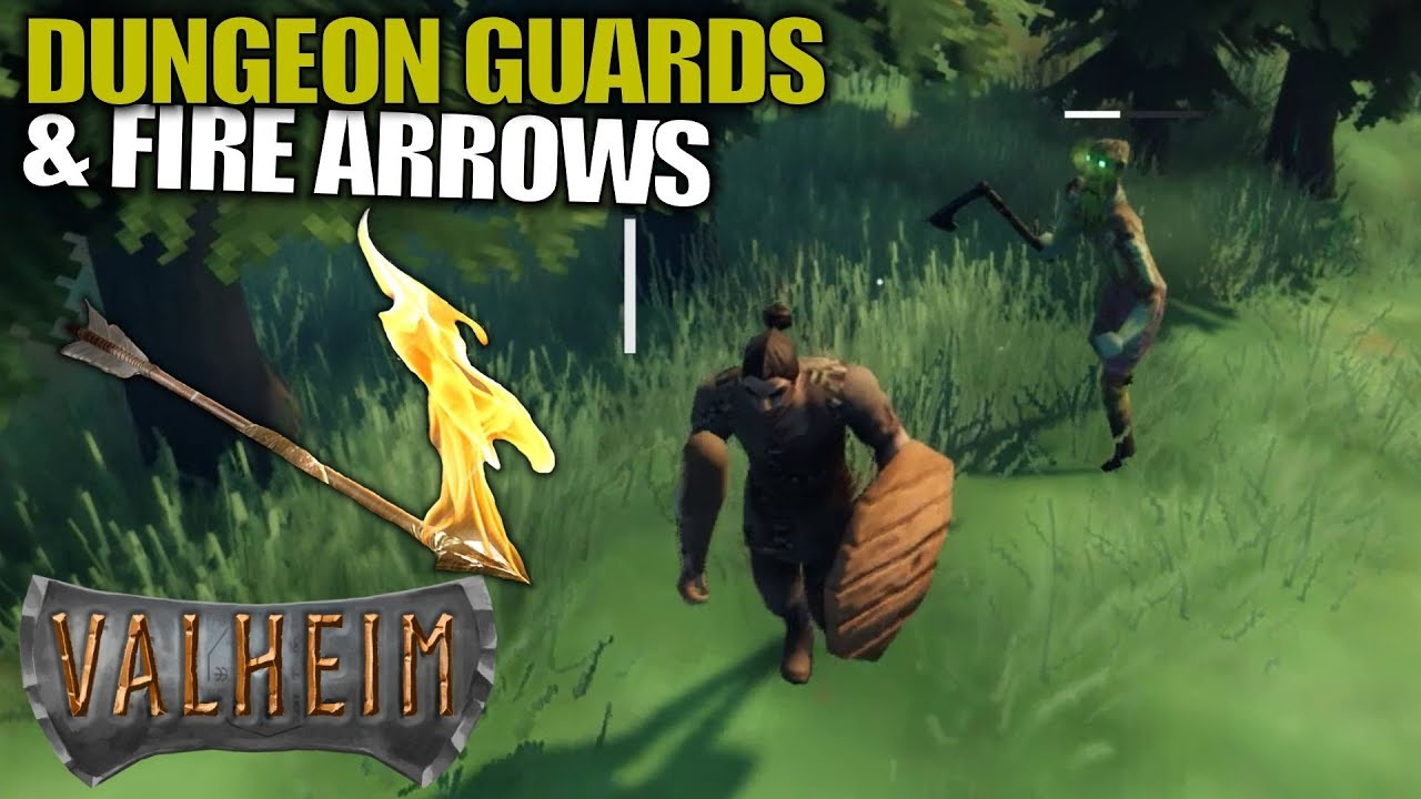DUNGEON GUARDS & FIRE ARROWS | Valheim | Let's Play Gameplay | S01E03