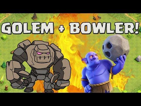 GOLEM + BOWLER - SUPER TAKTIK!? || CLASH OF CLANS || Let's Play CoC [Deutsch/German HD+]