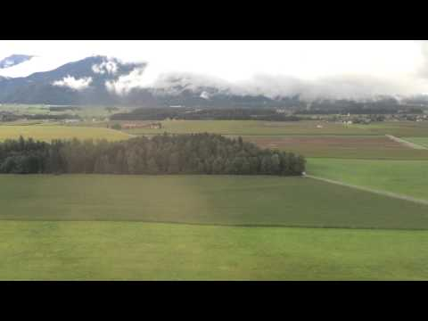 Fly Swiss / Zurich - Ljubljana / landing at Joze Pucnik / Brnik airport