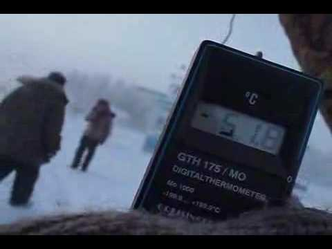 Measuring temperature in Oymyakon, Russia's Siberia. Cold Winter Weather. AskYakutia.com