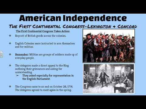 The First Continental Congress Lexington & Concord