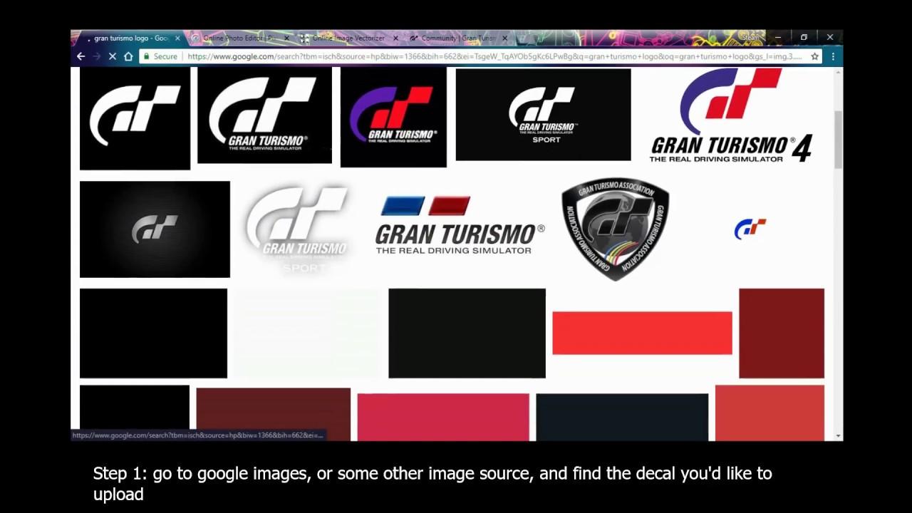 Gran Turismo Sport Decal Uploader Tutorial 100 Free Youtube