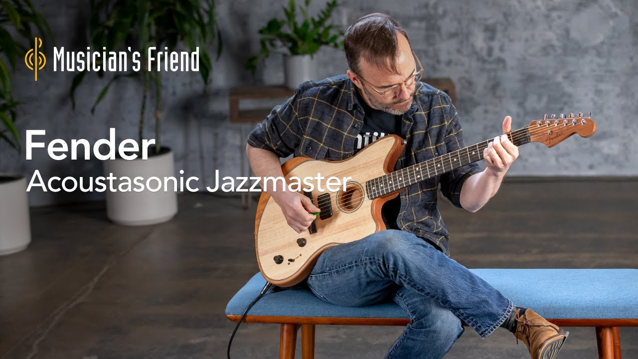 Fender American Acoustasonic Jazzmaster Acoustic-Electric Guitar | All Playing, No Talking