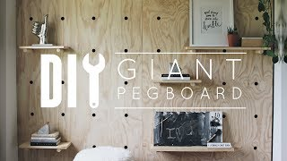 Diy Office Makeover Part 2: Pegboard Wall With Home Depot!
