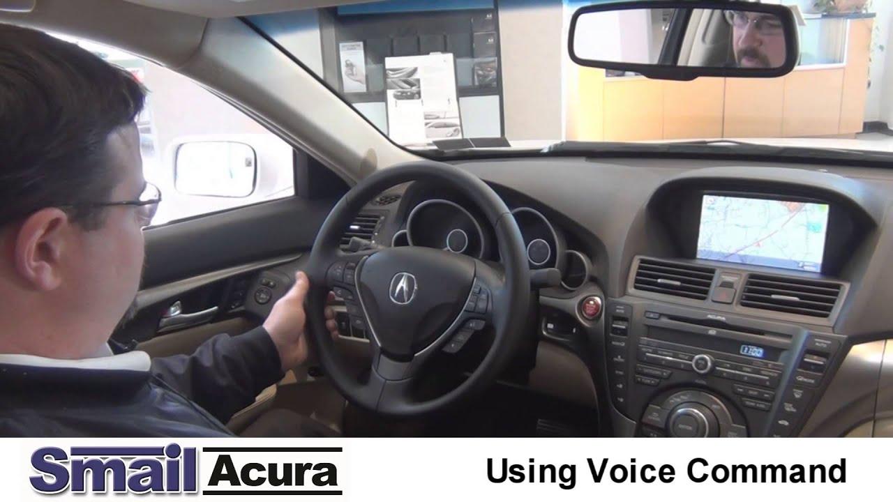 using acura voice mand youtube