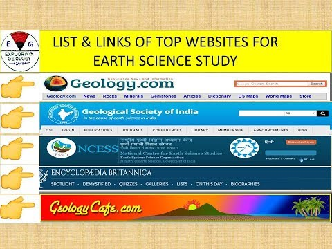 List of Top-10 Useful Websites for Geology/Earth Science Study