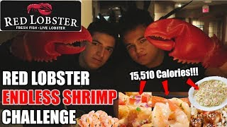 Red Lobster Endless Shrimp Challenge (Infinite Shrimp?!) (15,000+ Calories) (Re-Upload)