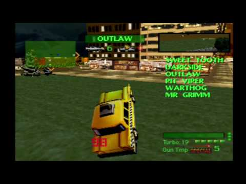 Twisted Metal 1 Yellow Jacket Tournament Playthrough HD
