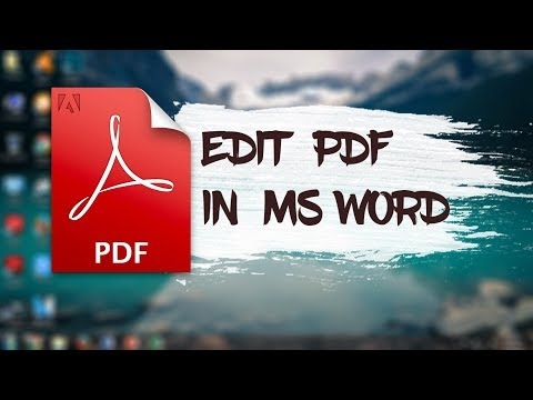 How to edit pdf in ms word 2020