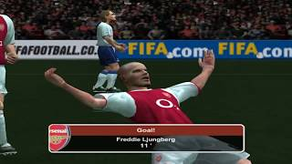 PC Retro FIFA 2004 Arsenal x Tottenham gameplay