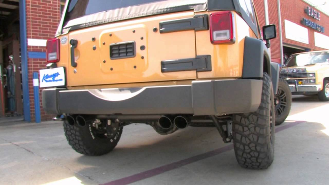 2013 jeep wrangler sport 3 6 with custom dual flowmaster exhaust by kinney s