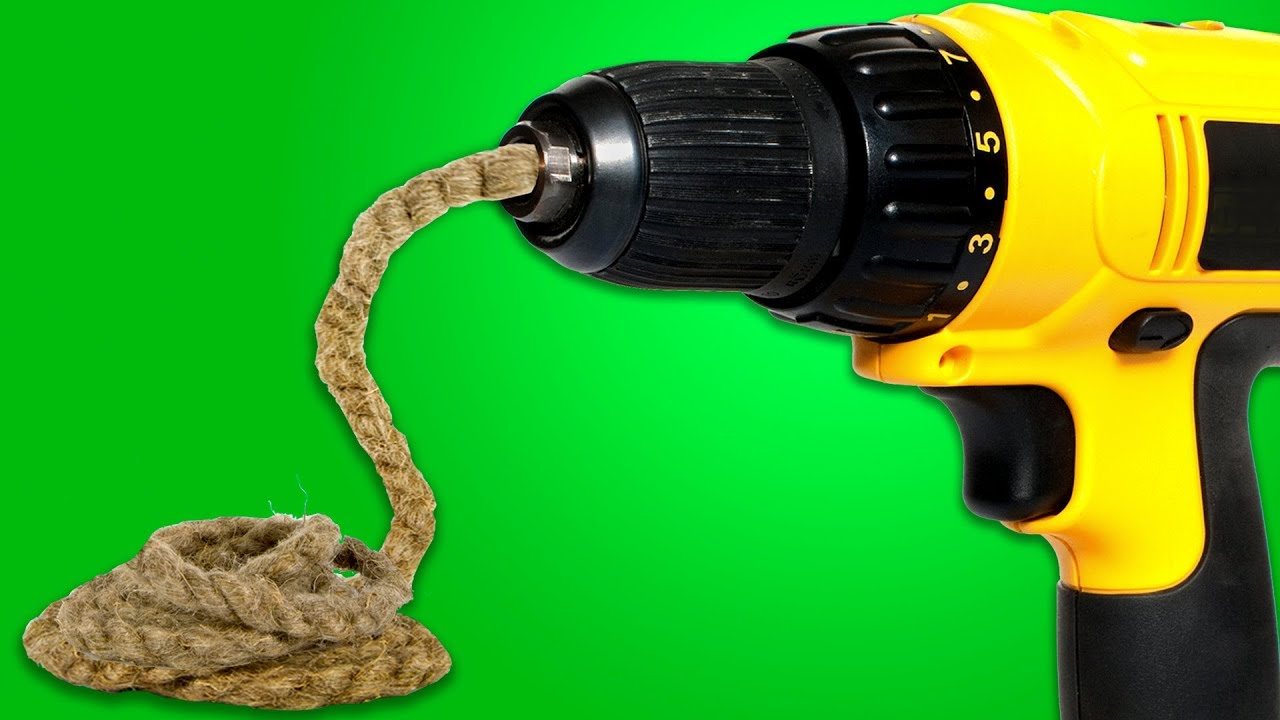 28 UNEXPECTED HACKS WITH A DRILL