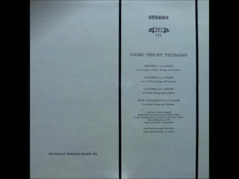 Telemann: Concertos+Suite Concertante (Andre, Pierlot etc./Ristenpart/Saar Radio Chamber Orchestra)