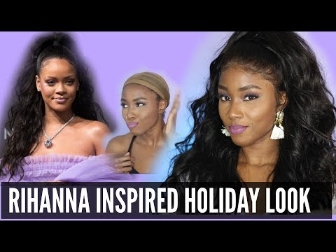 Rihanna Inspired Look | How I Do Half Up On My 360 Lace Wig